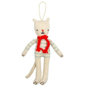 Meri Meri Meri Meri Stuffed Cat Hanging Decoration