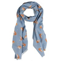 Wrendale Designs The Artful Poacher Scarf Fox