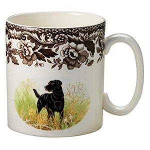 Spode Woodland Dog Mug - Black Lab