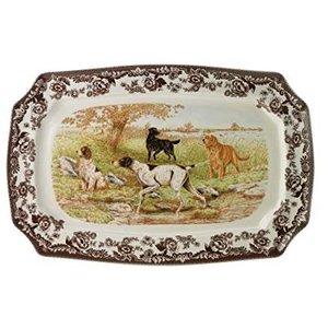 "Spode Spode Woodland Dogs Rectangle Platter 17.5"" All Dogs"