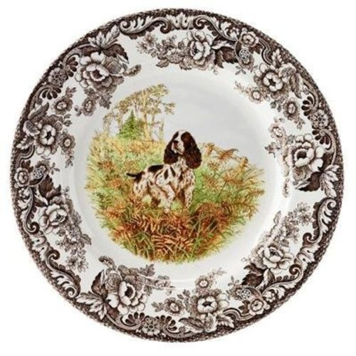 Spode Spode Woodland 27cm Dinner Plate Springer Spaniel Dog