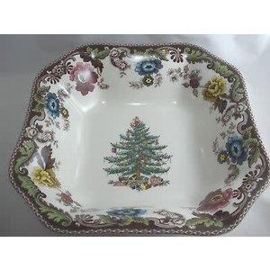 Christmas Tree Grove Square Bowl