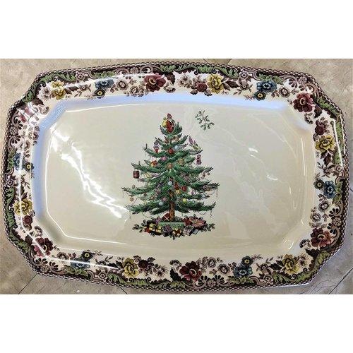 Spode Spode Christmas Tree 17.5in Rectangular Platter