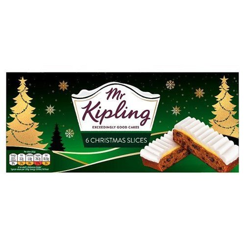 Mr. Kipling Mr Kiplings Christmas Cake Slices