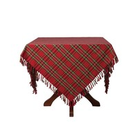 April Cornell Christmas Plaid Tablecloth 60 x 90
