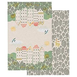 Danica Studio Danica Houses & Animals Dishtowel Hill and Dale