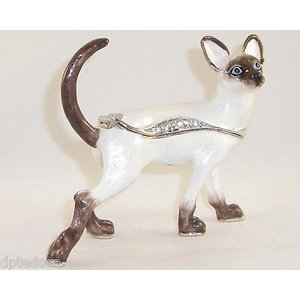 Kingspoint Designs Kingspoint Designs Siamese Cat Trinket Box 62669