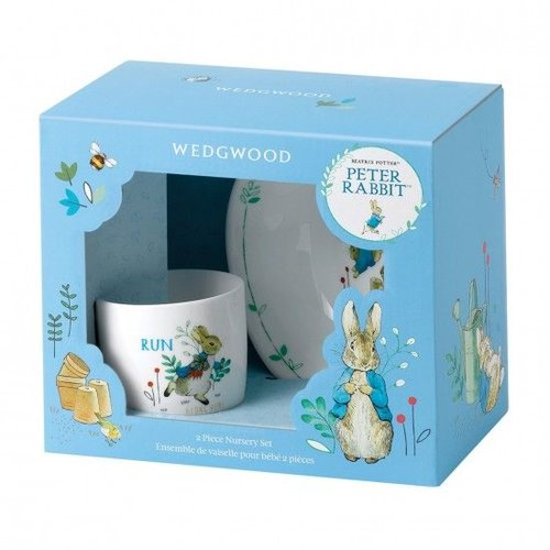 Peter Rabbit Wedgwood Peter Rabbit Refresh 2 PCSet Mug & Bowl Blue