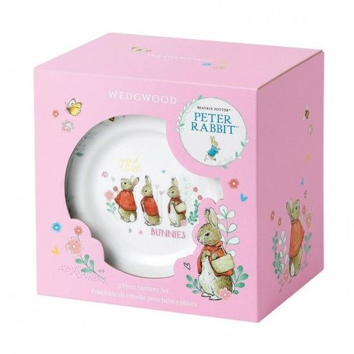 Peter Rabbit Wedgwood Peter Rabbit Refresh 3 Pc Set Pink