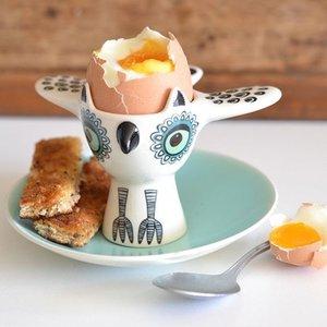 hannah turner Hannah Turner Green Owl Egg Cup