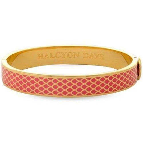 Halcyon Days Halcyon Days Salamander Bangle - Coral and Gold