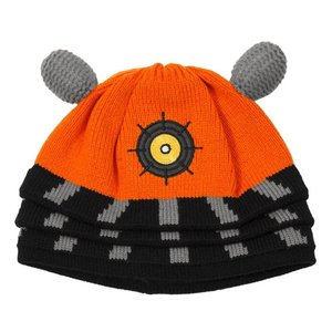 Doctor Who Dalek Knit Beanie Orange