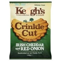 Keoghs Crinkle Cut Cheese & Red Onion Crisps