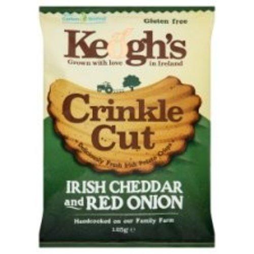 Keogh's Keoghs Crinkle Cut Cheese & Red Onion Crisps