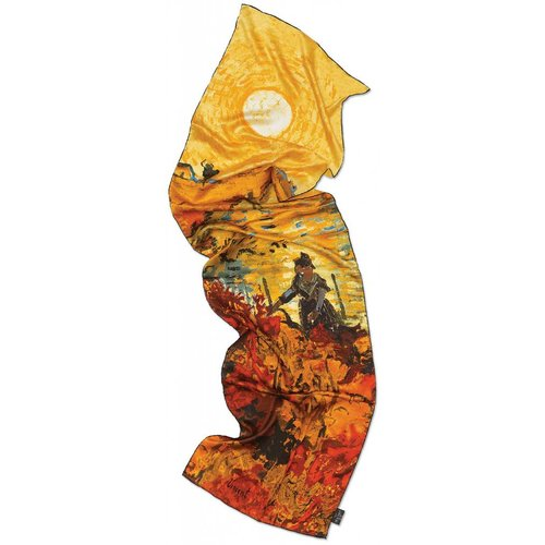 Van Gogh Red Vineyard Silk Scarf