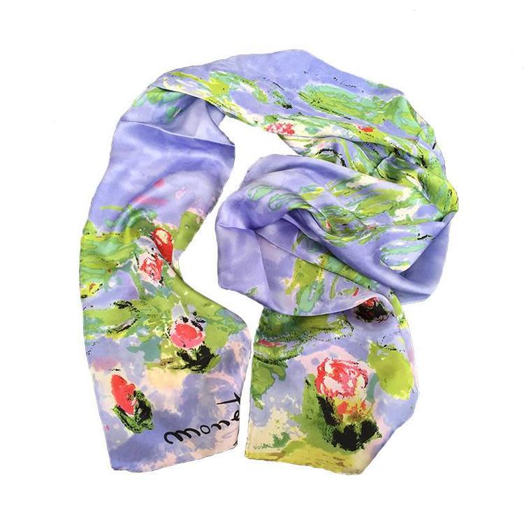 Monet Water Lillies Silk Scarf