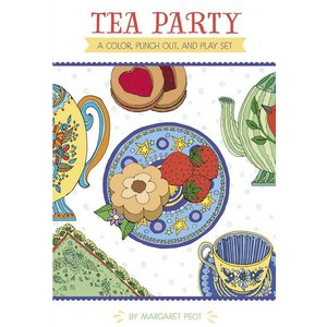 Pomegranate Tea Party A Color, Punch Out, and Play Set