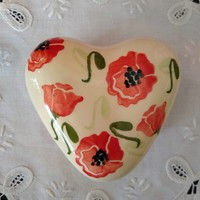 peregrine pottery poppy heart box