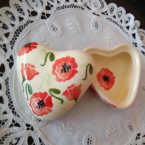 Peregrine Pottery peregrine pottery poppy heart box