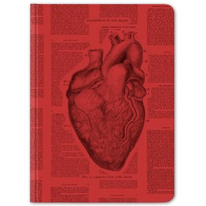 Anatomical Heart Hardcover Journal - Dot Grid