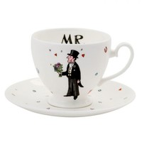 Mr Wedding Teacup & Saucer
