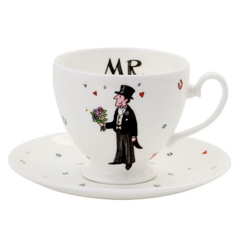 Alison Gardiner Mr Wedding Teacup & Saucer