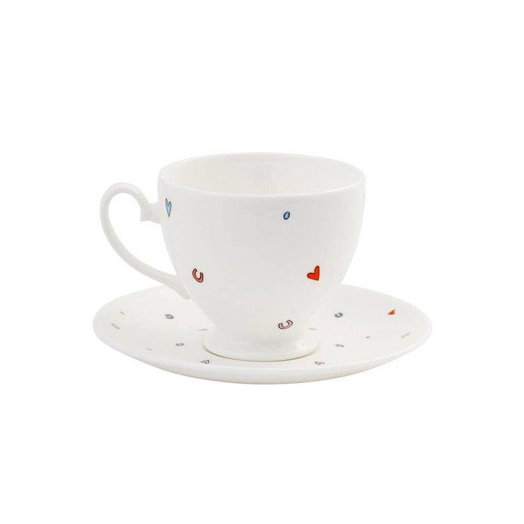 Alison Gardiner Alison Gardiner Mrs Wedding Teacup & Saucer