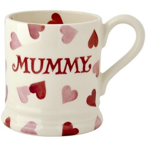 Emma Bridgewater Bridgewater 1/2 Pint Pink Hearts Mug - Mummy