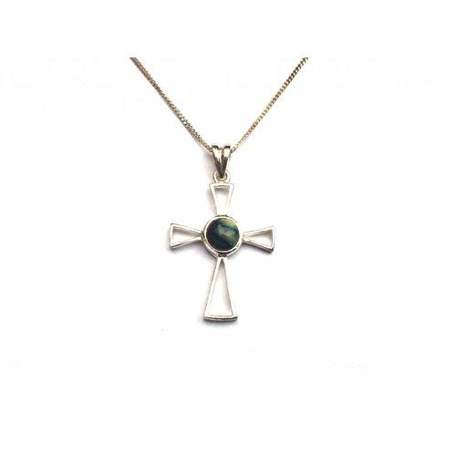 Heathergems Heathergems Small Sterling Silver Cross