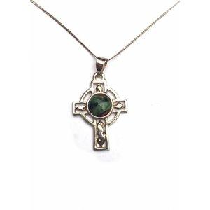 Heathergems Heathergems Celtic Cross Silver Pendant SP401