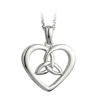 Solvar Sterling Silver Celtic Knot Heart Necklace
