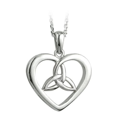Solvar Solvar Sterling Silver Celtic Knot Heart Necklace