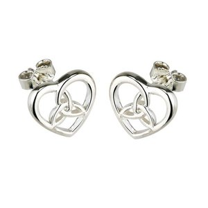 Solvar Solvar Small  Celtic Knot in Heart Stud Earrings