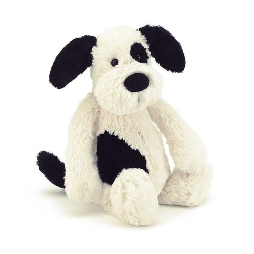 Jellycat Jellycat Bashful Black/Cream Puppy