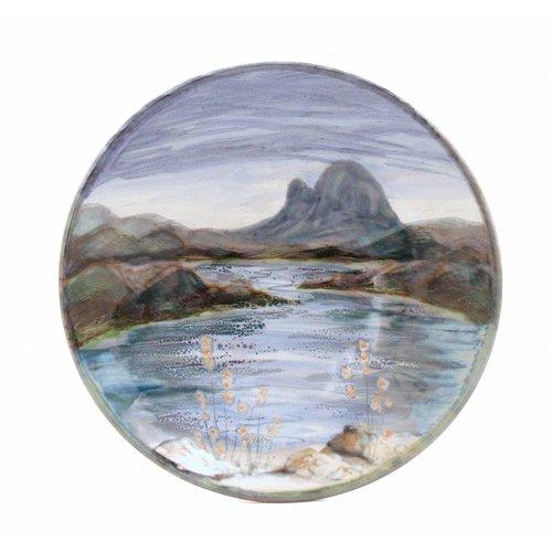 Highland Stoneware Highland Stoneware Medium Geo Dish Landscape