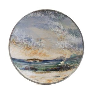 Highland Stoneware Highland Stoneware Medium Geo Dish Seascape