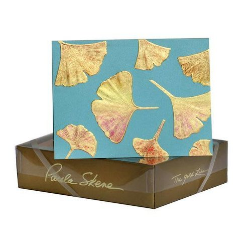 Paula Skene Paula Skene Ginkgo Pattern Gold/Sunset on Teal