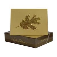 Paula Skene Oak Leaf- Sunset/Gold Boxed Cards