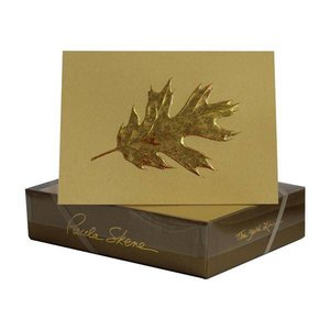 Paula Skene Paula Skene Oak Leaf- Sunset/Gold Boxed Cards