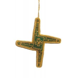 St. Nicolas St. Nicolas St. Brigids Cross Cut Out Forest Green Ornament