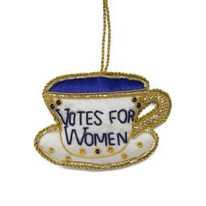 St. Nicolas St. Nicolas Votes for Women Tea Cup Ornament