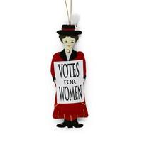 St. Nicolas Votes for Women Red Suffragette Barbara Ornament