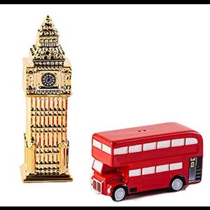 Salt & Pepper Shakers - Big Ben & Double Decker Bus