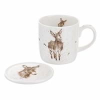 Wrendale Gentle Jack Donkey Mug & Coaster Set