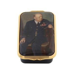 Halcyon Days Halcyon Days Churchill Portrait by  Chandor-Enamel Box