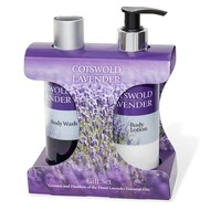 Cotswold Lavender Body Wash & Body Lotion Gift Set