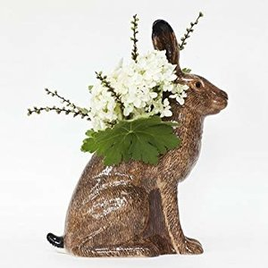 Quail Ceramics Quail Hare Flower Vase