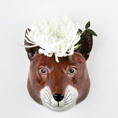 Quail Ceramics Quail Fox Wall Vase