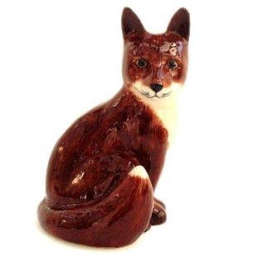 "Quail Ceramics Quail Fox Figure 3.5"""