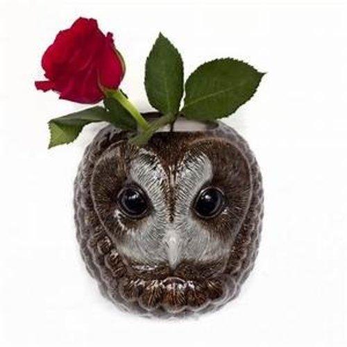 Quail Ceramics Quail Tawny Owl Wall Vase